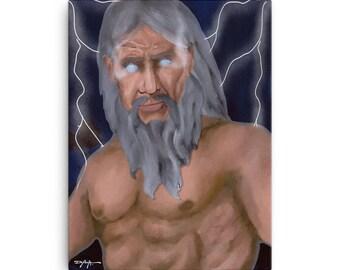 Zeus King of the Gods Mythology Limited Edition Canvas Art Print