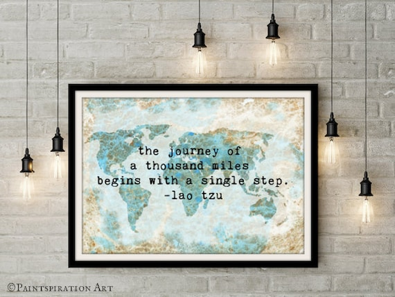Travel quote poster 24x36 inch world map poster travel wall travel quote poster 24x36 inch world map poster travel wall art large wall art quotes large art print travel poster vintage world map blue gumiabroncs Choice Image
