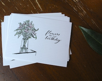 Flowers for Your Birthday Postcard (Pack of 5)