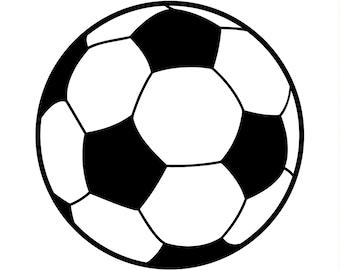 """5"""" Round Soccer Ball Magnet"""