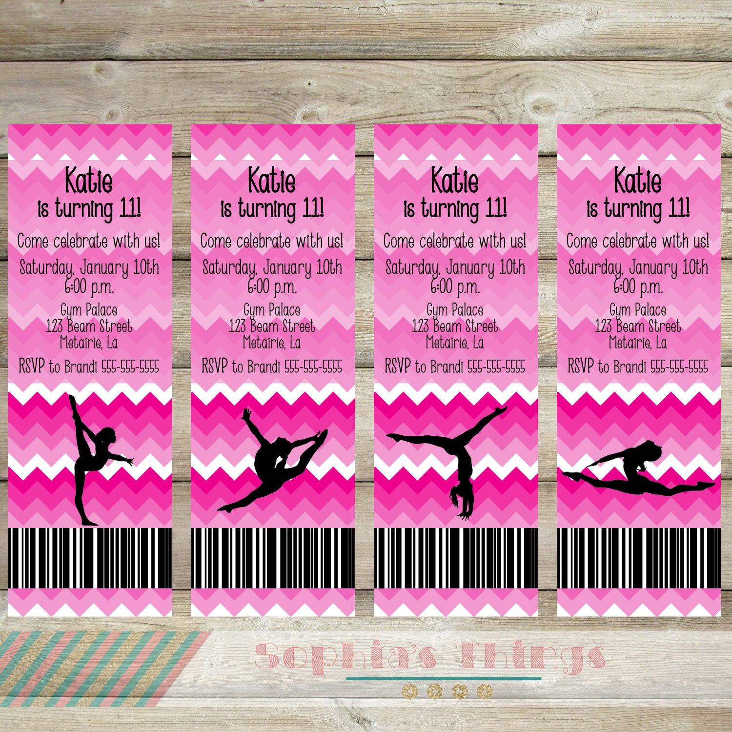 Gymnastics Birthday Party Printable Gymnastics Invitation