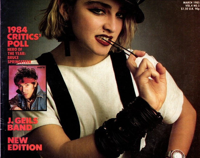 Record Magazine March 1985 Issue Madonna Cover