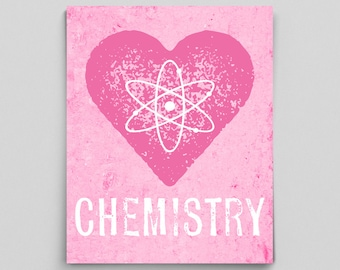 STEM Posters for Women Gifts Girls Gifts Print Chemistry Love Science Print Science Teacher Gifts for Teachers Science Art Typographic Print