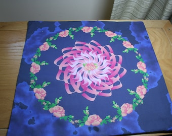 Altar Cloth or Tarot Cloth, Mystical Rose - Pagan Altar Cloth, Wicca Altar Cloth, Wheel of the Year, Roses, Rosarian, Litha, Mayday, Beltane