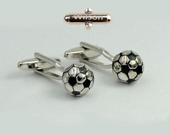 Gift custom Cufflink,Football cufflinks, soccer cufflinks, ball cufflinks,Cufflink,Men,Groosmen,Soccer,Sport,Groom,Father,Dad,Wedding
