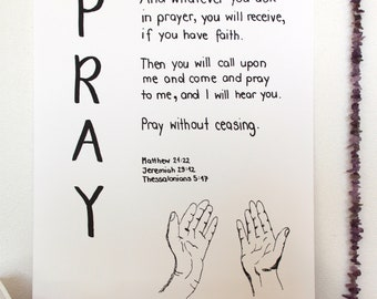 Pray-Bible passages on the subject of prayer