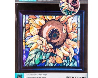 Stained Glass Sunflower Needlepoint Kit