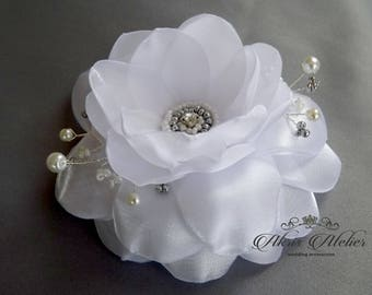 Wedding  hair flower, bridal hair flower, Ivory flower, hair clip, weddings accessories, bridal hairpiece, Bridal headpiece