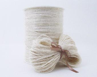 Jute twine cord. Ivory. 10 or 50 metres