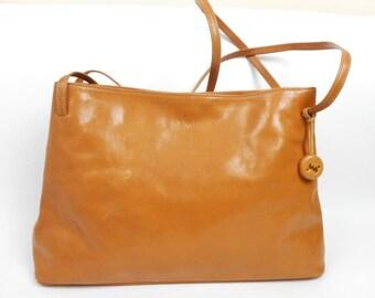VIntage MONSAC Original Bag, Leather Shoulder Handbag