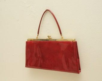 Vintage Red Clutch Purse