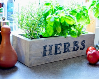 Wooden Herbs Box