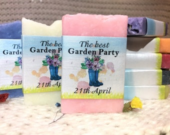 100 Garden Party Soap Favors, From my shower to yours, Wedding favors,  Handmade soap, Bridal Shower, Baby Shower, Soap, Party favors,