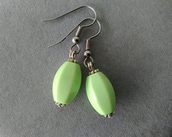 Lime Green Magnesite Earrings