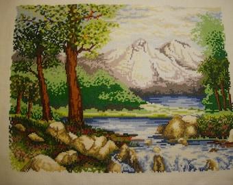 "Cross Stitch Picture ""Landscape"""