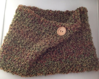 Cozy Cowl Crocheted In Herb Garden Photo Prop Scarf Shawl
