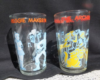 Reggie Archie Glasses, Reggie Makes the Scene, The Archies Having a Jam Session, Two Reggie and Archie Juice Glasses