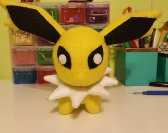 Felt Jolteon Eeveelution Pokemon Plush