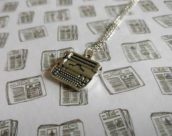 Typewriter. Necklace.