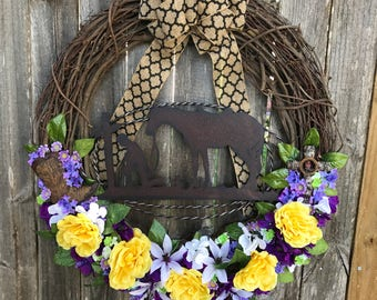 "24"" Cowboy Cross Wreath"