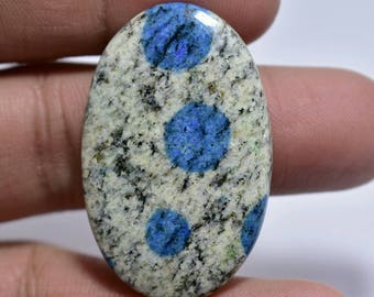 K2 Jasper, Oval Cabochon, 43x27x4 MM, 45 CTS, Beautiful Combination of granite and azurite,. # 489