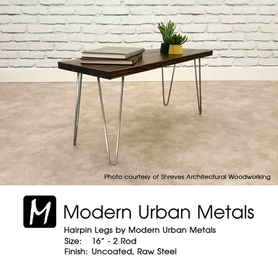 Hairpin Legs 18 23 Uncoated Raw Steel Mid