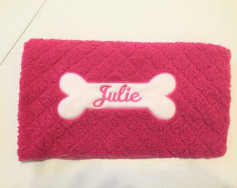 Personalized Dog Blanket, Personalized Minky Dog Blanket, Personalized Pet Blanket, Soft and Fluffy Personalized Dog Blanket, Gift for Pets