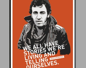 Bruce Springsteen portrait, The Boss, E Street Band, Born To Run, Born in the USA