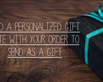 Sending as a gift? Add a personalized note