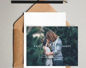 Printable Save the Dates // Hand Lettered save the dates, 5x7 save the date printable, modern save the date, minimal wedding, digital print