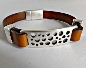 Women leather bracelet, leather bracelet, leather jewelry, womens bracelet, gift for her, wrap bracelet, womens leather, leather wrap, K1986