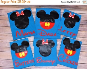 ON SALE Disney Family pack - Personalized disney shirts - Mickey shirts - minnie shirts - family pack - birthday shirts - vacation shirts  -