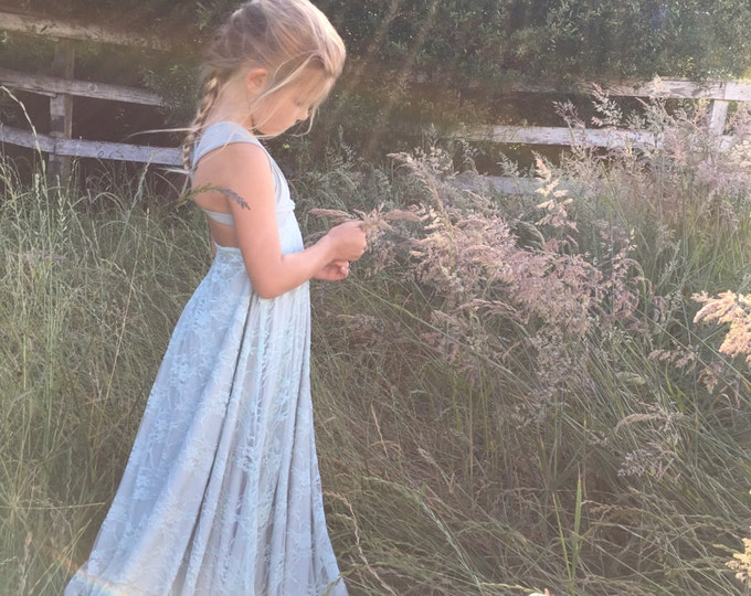 Girls/ Juniors Lace or Chiffon LONG Convertible Wrap Dress~Octopus Infinity Twirl Dress~ Choose any fabrics~ Flower girl, Birthday