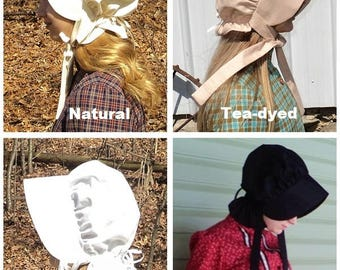 Custom Women's Sun bonnet Little House on the Prairie old fashioned Wild West pioneer costume accessories MADE-TO-ORDER