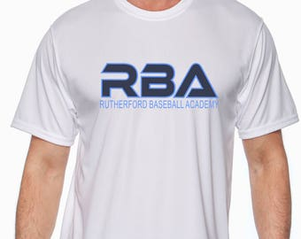 RBA Moisture Wicking Short Sleeve T-Shirt-Front Print Only