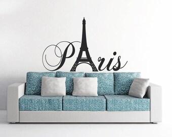 Paris Eiffel Tower Vinyl Decor Wall Art Decal Mural!