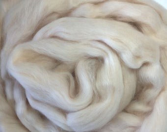 Merino Wool Roving - Cream - 1 oz
