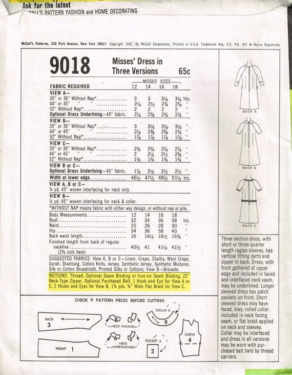 años 60 mod vestido solía 9018 busto 34 ronda cuello rodilla Simple ...
