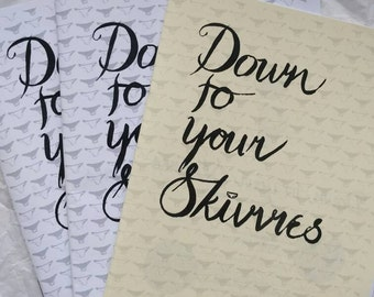 Down To Your Skivvies issue #2 • UK based self-published ZINE