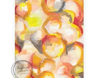 Summer Nights abstract art print
