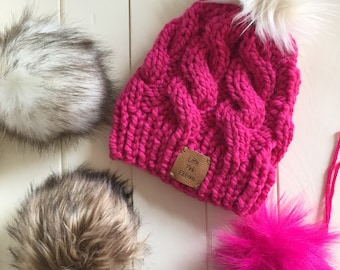 Faux Fur Pom Pom - Fur Pom Pom - Fur Pom for Hat - Handmade Fur Pom Pom for Hat