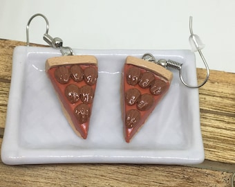 pecan pie polymer clay dangle earrings