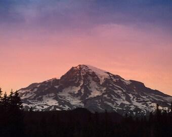 Mountain Sunset, Fine Art Photography Print, Wall Art, Mountain, Pacific Northwest, Sky, Sunset, Summer