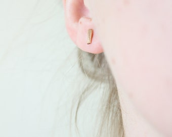 Gold Bar Studs, Gift for Her, Gold Stud Earrings, Gold Bar Earrings, Simple Gold Earrings, Small Gold Studs, 14k Gold Filled Earrings