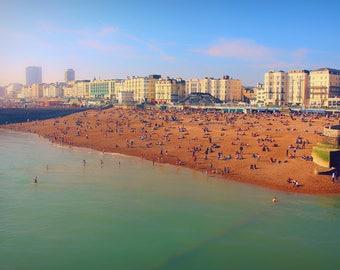 Brighton Photography Print, Brighton Beach Photo, Brighton Seafront, Large Wall Art