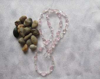 Rose and Crystal Quartz Necklace