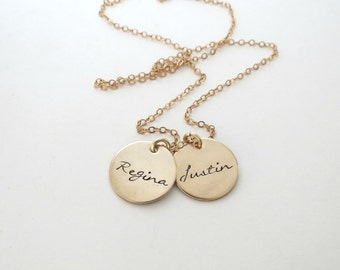 Personalized Gold Necklace - Custom Name Necklace - Mothers - Grandma - Personalized Jewelry - Son - Daughter - Family - Grandkids