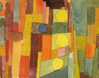 PLACEMAT semi-rigid ORIGINAL AESTHETIC WASHABLE and durable - Paul Klee - classic - style from Kairouan.