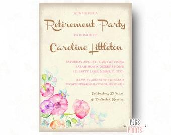 Plum Farewell Invitation Farewell Party Invitation Farewell