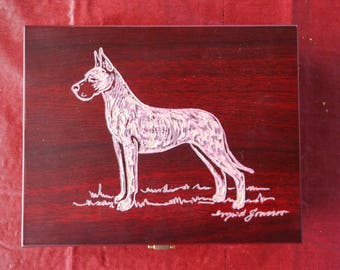 Great Dane-[Fawn] Beautifully hand engraved Keepsake Box by Ingrid